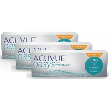 Acuvue Oasys 1-Day for Astigmatism (90)  contact lenses from www.interlenses.com