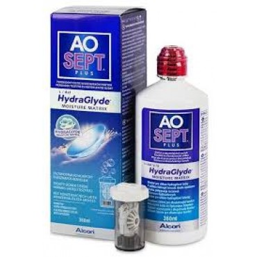 Aosept Plus Hydraglyde - 1 x 360ml. from www.interlenses.com