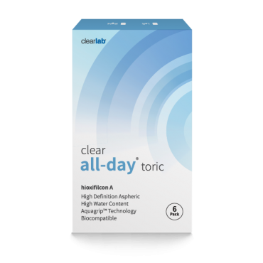 Clear All-day Toric (6) contact lenses from www.interlenses.com